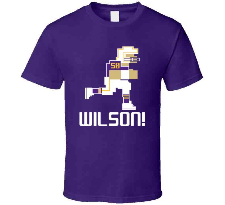 Eric Wilson # 50 Tecmo Bowl Minnesota Football Athlete Fan T Shirt