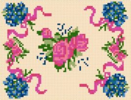 Latch Hook Pattern Chart: READICUT #108 Roses and Violets - EMAIL2u - $6.95