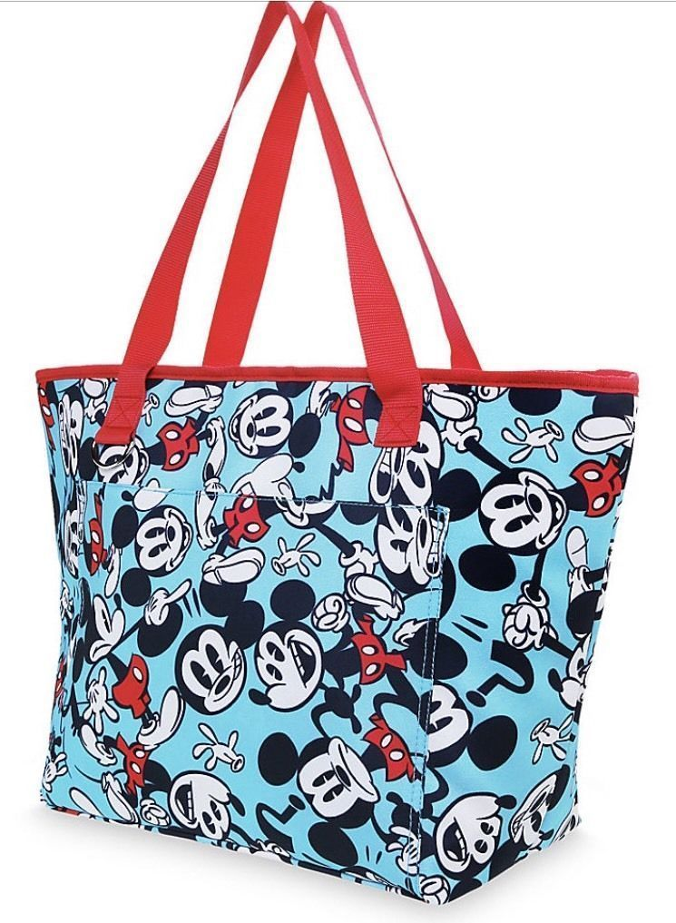 2017 Disney Store Summer Fun Mickey Mouse Beach Insulated Zip Cooler Tote Bag