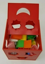 Vintage A Child Guidance Toy Puzzle Box Shape Sorter Learning 18 Shapes  - $12.86