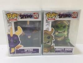 Funko Pop (Lot of 2) Spyro Gnasty Gnorc 529 & 530 New Box + Plastic Prot... - $28.45