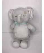 "Just Born White Gray Blue Polka Dot Elephant Rattle Plush 11"" Stuffed Toy - $29.02"