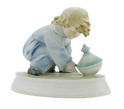 Vintage Zsolnay Playing Girl Figurine - $38.15