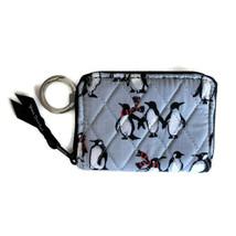 Vera Bradley Petite Zip Around Wallet ~ Playful Penguin Gray Print ~ New/NWT - $35.95