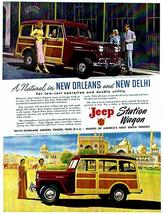 1949 Jeep Station Wagon - Promotional Advertising Poster - $9.99+
