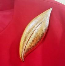 Joan Rivers Statement Gold Leaf Rhinestone Brooch - $24.50