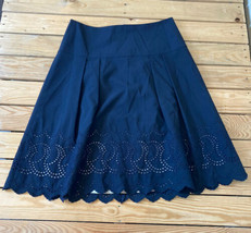 ann Taylor women's a line eyelet Lace Scalloped  skirt size 12 navy - $16.73