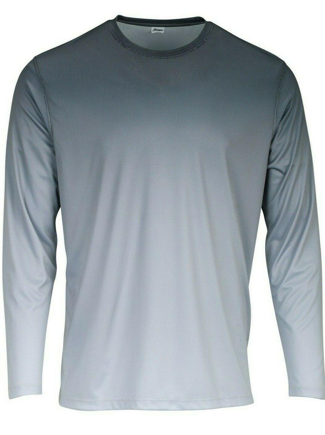 Sun Protection Long Sleeve Dri Fit Black Light Gray base layer sun shirt UPF 50+
