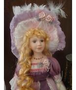 "Victorian Porcelain Doll Grace w Parasol  Delton 18""  NIB  - $24.00"