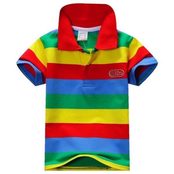 Summer Children's Cotton Tops Tee Boys Brief Dress T-shirts with ribbons polo - $11.99 - $13.99