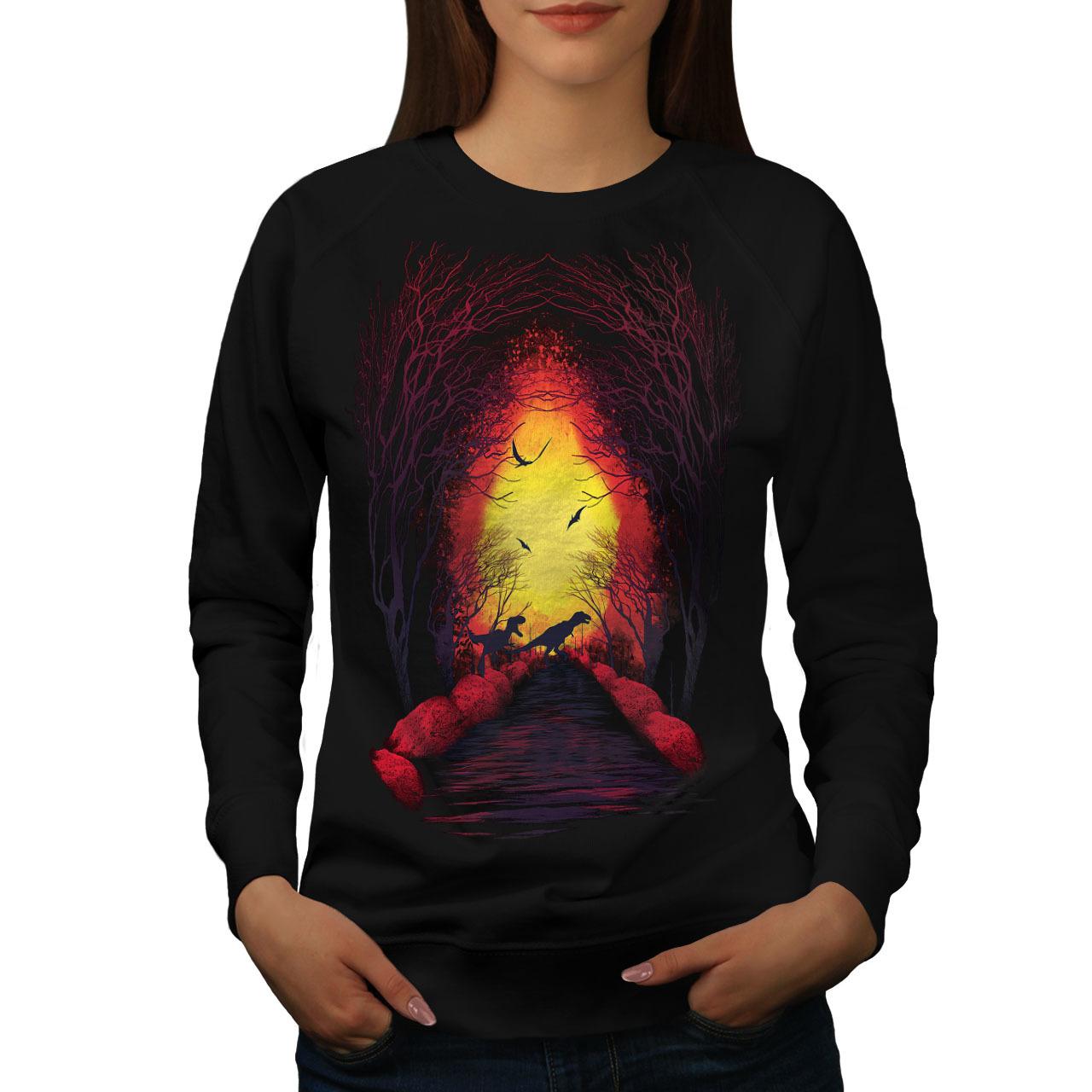 Fireplace Forest Nature Jumper Jurassic Women Sweatshirt - $18.99