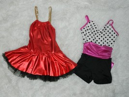 Lot of 2 Weissman Dance Costume  Toddler Girl Size SC Style 5681 and 9048 - $713,93 MXN