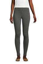 Lands' End Women Petite Starfish Cotton Legging Charcoal Heather PS NEW ... - $25.72