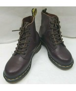 Doc Dr Martens 8175 Smooth Brown Leather 6-Eyed Ankle Boots Womens US Si... - $99.80
