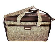 Vintage Samonite Suitcase Carry On Bag Multi Colored Tweed Over Night Lu... - $20.07