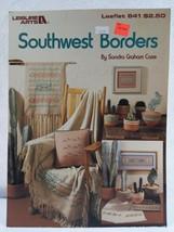 1988 Leisure - Southwest Borders Cross Stitch Leaflet # 641 Vintage - $7.92