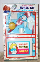 Vintage Toy Nurse Kit Plastic Case and Lots of Pieces MIB Hong Kong - $28.05