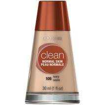CoverGirl Clean Liquid Makeup for Normal Skin, #105 Ivory, 1 oz - $6.43