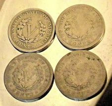 Liberty Head Nickel Five-Cent Pieces 1906 - 1909 AA20-CNN2137 Antique image 9
