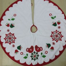 Martha Stewart Christmas Tree Skirts Reversible Holiday Applique Felt Ol... - $89.05