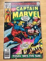 Captain Marvel #57 Marvel Comic Book FN 7.5 THOR 1978 Today Dies The Sun - $13.64