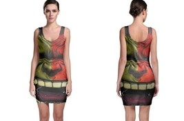 hulk red anger cartoon illustration Bodycon Dress - $21.99+