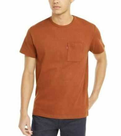 LEVI'S Men's Heavyweight Pocket T-Shirt, Tortoise Shell, Large, Sealed!!!