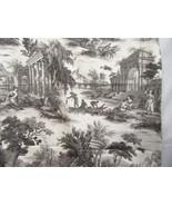 P Kaufmann Grand Toile Platinum Grey 2.6+ Yards Fabric Remnant - $62.00