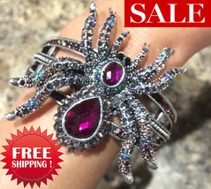 Spider bracelet halloween bangle bling jewelry gifts for women gorgeous ... - $19.99