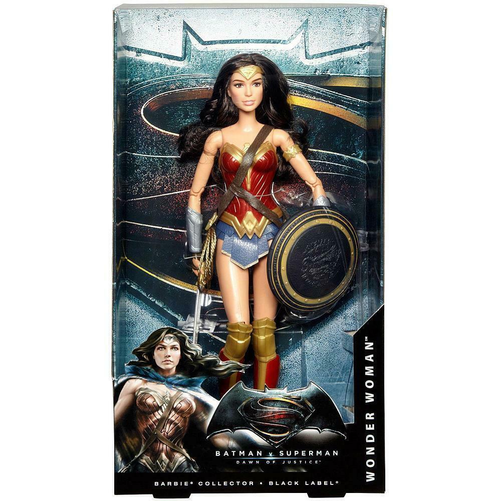 Batman v Superman Dawn of Justice Wonder Woman Doll Black Series - $123.67