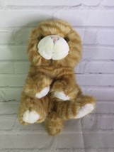 Lillian Vernon Orange Tabby Cat Striped Plush Stuffed Animal Realistic Eyes - $19.79