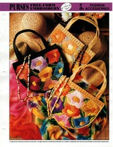 Plastic Canvas Pattern - Purses Free-Form Embroidery - Fashion Accessories - $1.48
