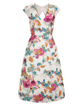 MONSOON Buda Jacquard Midi Dress Size UK 12 BNWT image 3