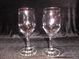 Two clear glass Restaurant Style Wine glasses - $8.90