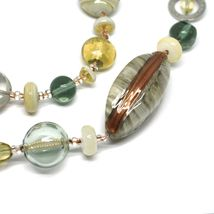 Necklace Antica Murrina Venezia, Glass Murano, Long 100 cm, Beige CO696A02 image 3
