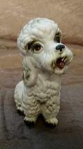 Vintage White Ceramic Porcelain French Poodle Dog Figurine Lefton #8286 - $14.99