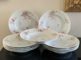 Antique Theodore Haviland Limoges Set of 11 Rim Soup Bowls - $599.00