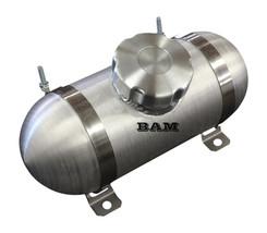 3x11 Center Fill Spun Aluminum Gas Tank  New Domed End Caps - Go Kart  M... - $118.70
