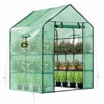 VIVOSUN 57x57x77-Inch Mini Walk in Green House with Window and Anchor Pl... - $101.99