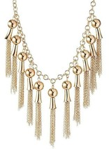 """Jules Smith 17.5"""" + 2.25"""" Gold Plated Fringe Drop Necklace NWT image 2"""