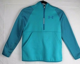 Under Armour youth kids cold gear hoodie storm1 half zipper size YMD/JM/M - $19.96