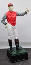 Hand-crafted Traditional Red-Vested Lawn Jockey Statue - $600.00