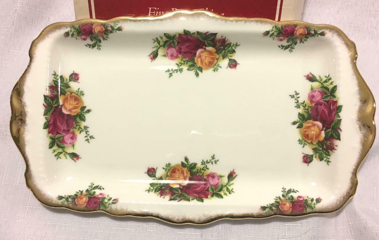Royal Albert Bone China Old Country Roses Sandwich Tray Plate England 11 3/4""
