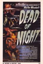Al Morir La Noche Dead Of Night Walter Winchell Film Poster Postcard - $8.99