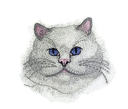 Amazing Custom Cat Portraits[Persian Cat Face ] Embroidered Iron On/Sew ... - €5,10 EUR