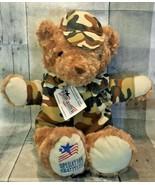 Operation Gratitude Battalion Buddy Military Camo Jacket Hat Teddy Bear ... - $34.99