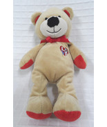 "Just One Yr CARTERS Love HEART Bear PLUSH Baby 9"" Sewn EYES Lovey Stuffe... - $13.81"