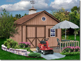 Best Barns Brandon 12x16 Wood Storage Shed Kit - ALL Pre-Cut - $2,796.72