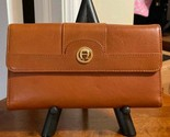 Etienne Aigner Trifold Leather Wallet - Brown