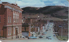Benett Ave,Cripple Creek Colorado Looking East. Teller Couny Court House - $3.99
